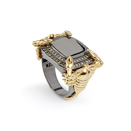 Scorpion Ring // White + Gold (10)