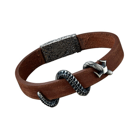 Snake Sword Bracelet // Brown (XS)