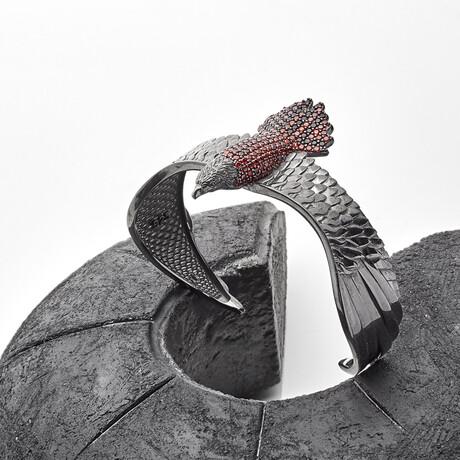 Eagle Bracelet // Black + Red (XS)