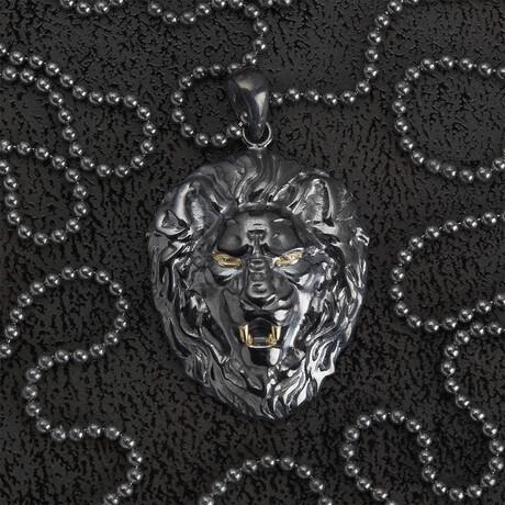 Lion Necklace // Black (S)