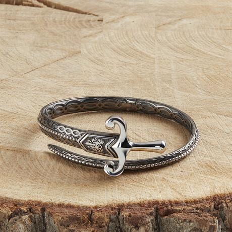 Royal Sword Bracelet // Black + White (XS)