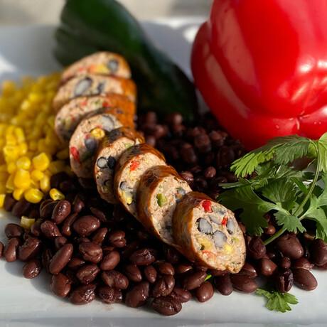 Black Bean, Peppers, & Corn + Portabella Sausage // 4.75 lb // True Blends Sausages + Chicago Sauce Set