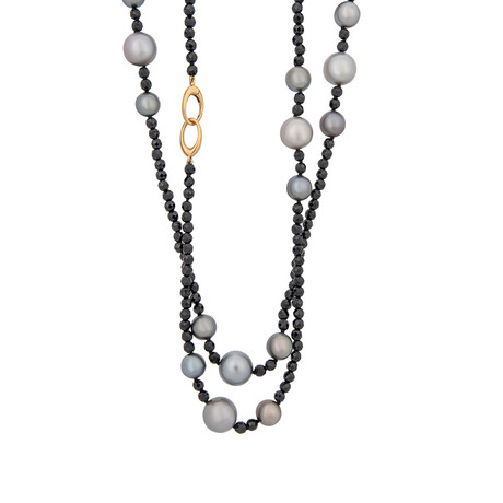 Assael 18k Yellow Gold + South Sea Pearl Necklace // Store Display