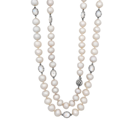 Assael 18k White Gold + South Sea Pearl Necklace // Store Display