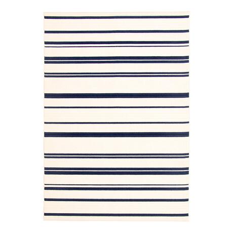 "Arthur Blue + Ivory // Indoor + Outdoor Rug (4'11""L x 2'7""W)"