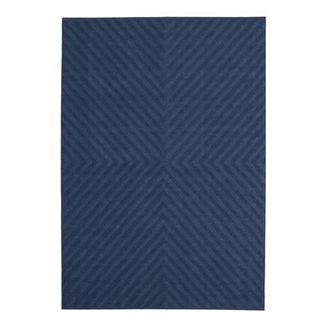 """Milan Blue // Indoor + Outdoor Rug (4'11""""L x 2'7""""W)"""
