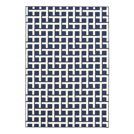 "Villa Blue // Indoor + Outdoor Rug (4'11""L x 2'7""W)"