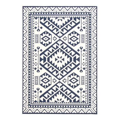 "Aaya Blue // Indoor + Outdoor Rug (4'11""L x 2'7""W)"