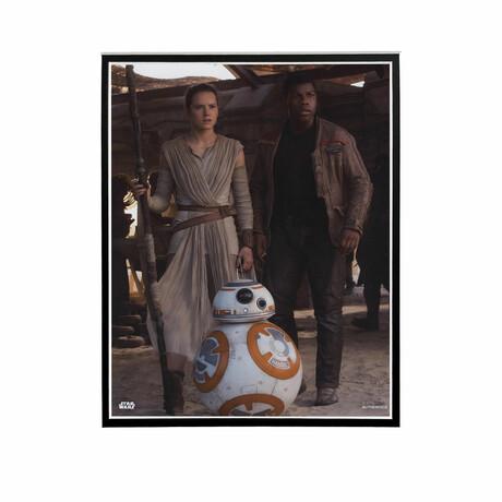 Rey, Finn, BB-8 // Licensed Star Wars Photo (Unframed)