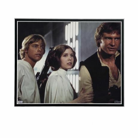 Luke Skywalker & Princess Leia & Han Solo // Licensed Star Wars Photo (Unframed)