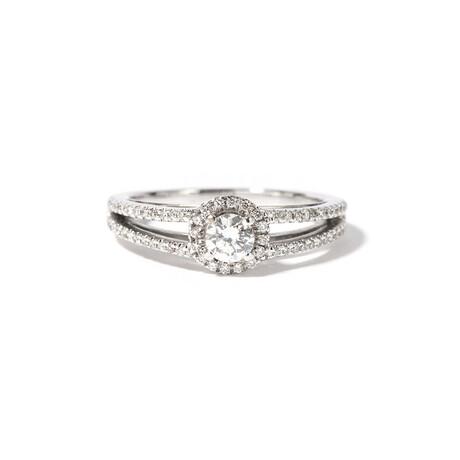 18k White Gold Diamond Ring // Ring Size: 7.25