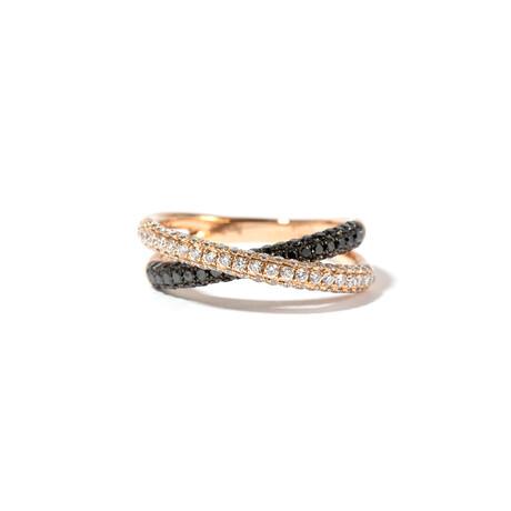 18k Pink Gold Diamond Ring // Ring Size: 7