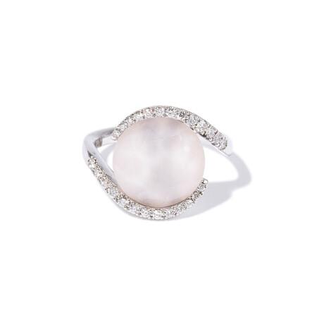 18k White Gold Diamond Ring II // Ring Size: 7.25
