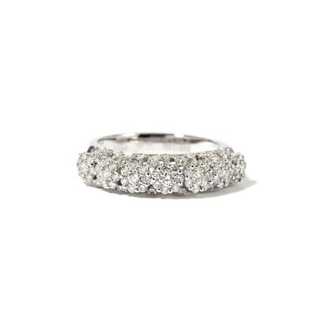 18k White Gold Diamond Ring II // Ring Size: 6.75