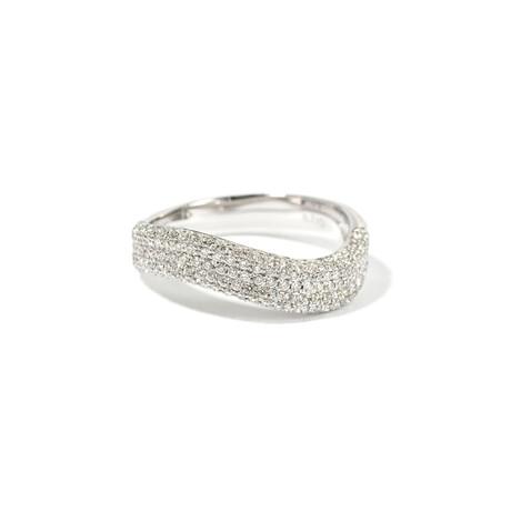 18k White Gold Diamond Ring XIV (Ring Size: 5.75)
