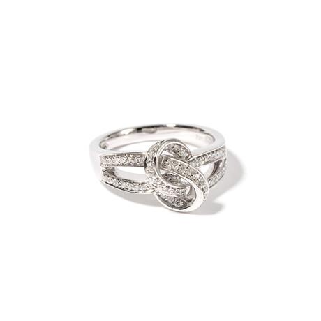 18k White Gold Diamond Ring // Ring Size: 6.25