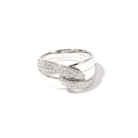 18k White Gold Diamond Ring II // Ring Size: 6.5