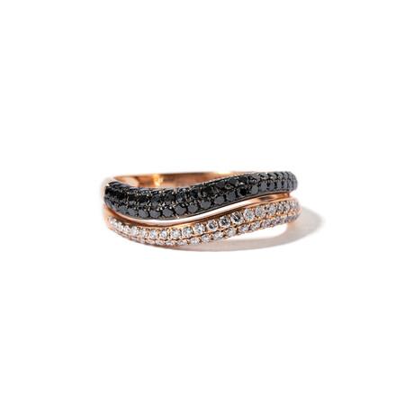 18k Pink Gold Diamond Ring // Ring Size: 7.75