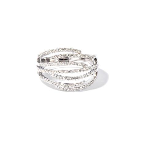 18k White Gold Diamond Ring // Ring Size: 6.5