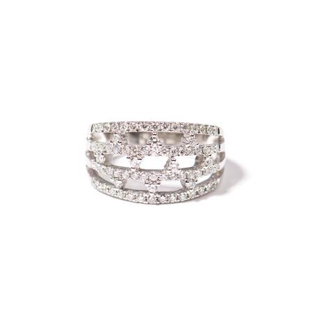 18k White Gold Diamond Ring II (Ring Size: 6)