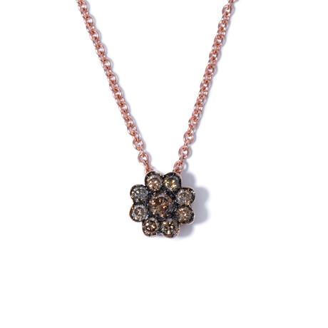 """18k Pink Gold Diamond Necklace I // 16.5"""""""