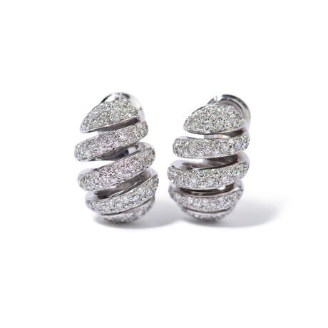 """18k White Gold Diamond Earrings // 0.83"""""""