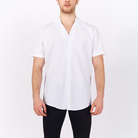 Short Sleeve Button Up Shirt // White (S)