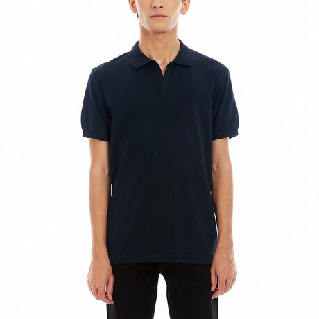 Short Sleeve Polo Shirt // Navy Blue (S)