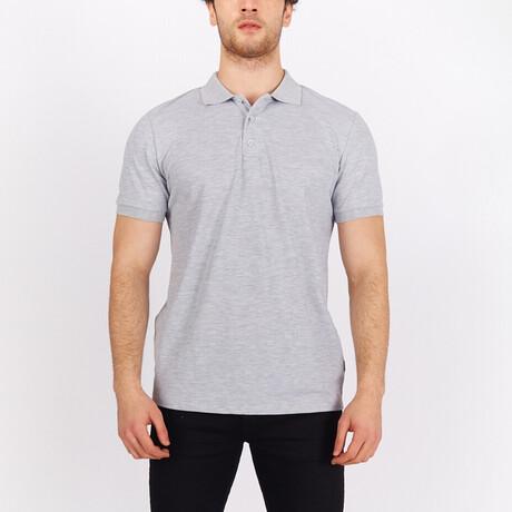Short Sleeve Polo Shirt // Gray (S)