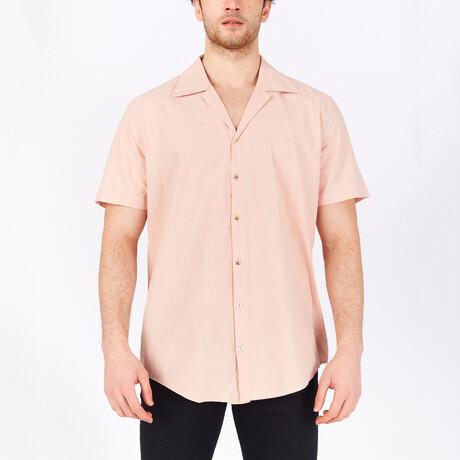 Short Sleeve Button Up Shirt // Powder (S)