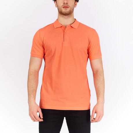 Short Sleeve Polo Shirt // Orange (S)