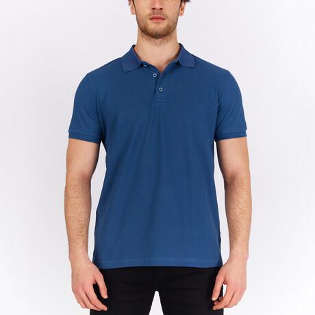Short Sleeve Polo Shirt // Indigo (S)