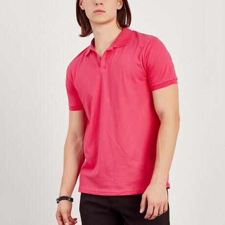 Short Sleeve Polo Shirt // Pomegranate (S)