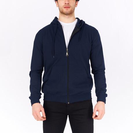 Full Zip Hoodie // Navy Blue (S)