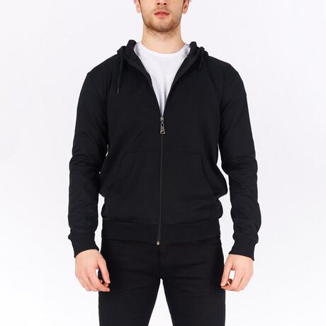Full Zip Hoodie // Black (S)