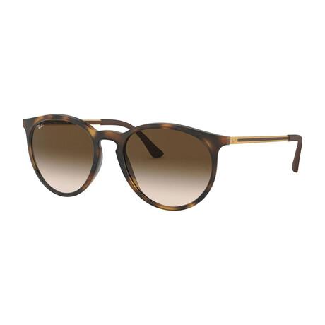 Men's Round Sunglasses // Light Havana + Brown Gradient