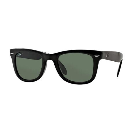 Men's Square Polarized Sunglasses V.III // Black + Green