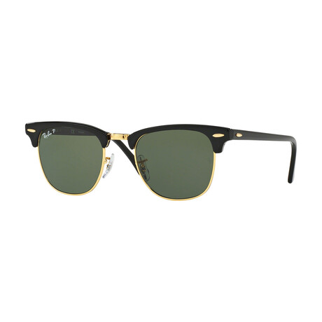Men's Square Polarized Sunglasses V.I // Black + Green