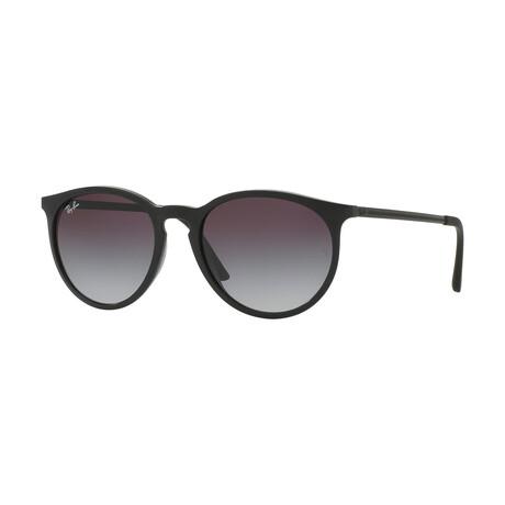 Men's Round Sunglasses // Black + Gray Gradient