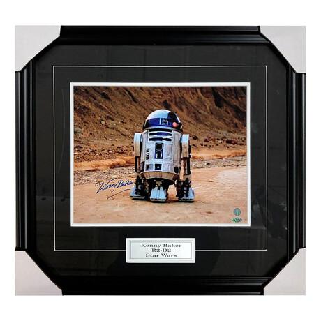 Kenny Baker // R2-D2 // Framed + Autographed Photo