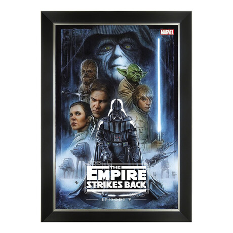 Star Wars The Empire Strikes Back Comic Book Cover Art // Framed Art Print