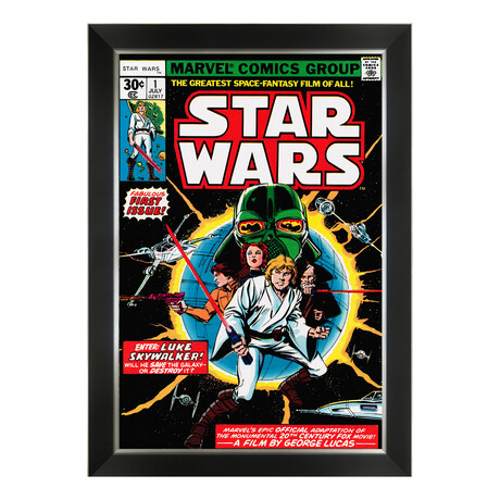 Star Wars Marvel Comics First Issue Cover Art // Framed Art Print