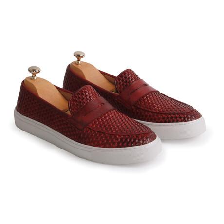 Carlo Casual Shoe // Claret Red (Euro: 39)