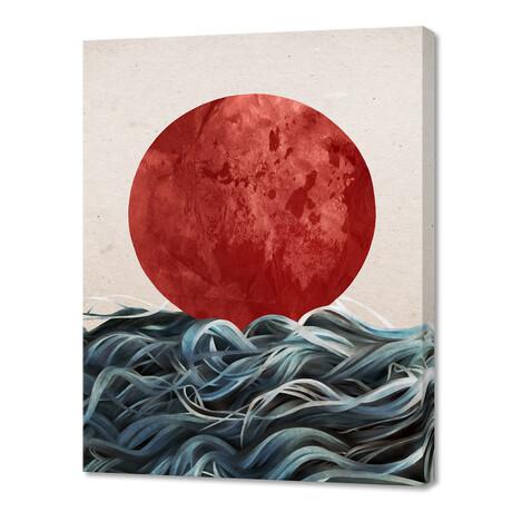 "Sunrise In Japan (16""W x 20""H x 1.5""D)"
