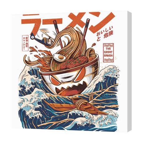 """Great Ramen off Kanagawa (16""""W x 16""""H x 1.5""""D)"""