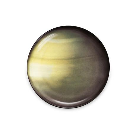 Cosmic Diner Porcelain Plate // Saturn