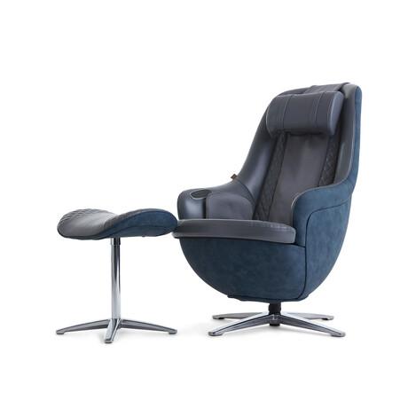 Nouhaus Modern Massage Chair + Ottoman // Stone Gray