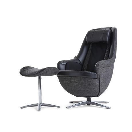 Nouhaus Modern Massage Chair + Ottoman // Gentle Black