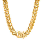 Anthony Jacobs // Miami Cuban Chain // 10mm // Gold Plated