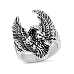 Anthony Jacobs // Stainless Steel Eagle Ring // Metallic (Size 9)